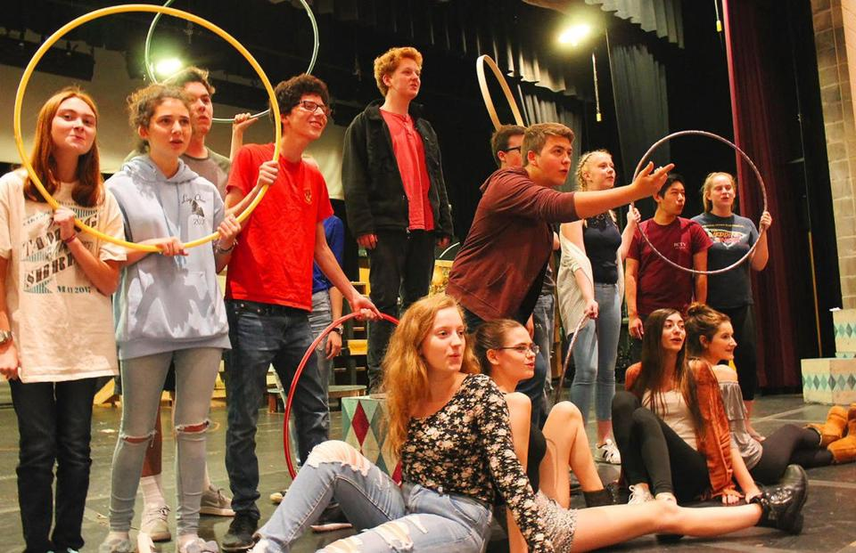 29nocalendar - ThereÕs magic to do when the 1972 Broadway hit, ÒPippin the Musical,Ó about a young princeÕs search for meaning, takes the stage in November at Reading Memorial High School. (Natalie Cuhna)