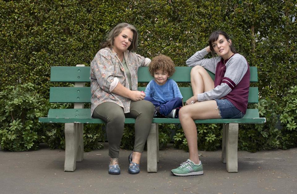 "Frankie Shaw (right, with Rosie O'Donnell, left) created and stars in ""SMILF."""
