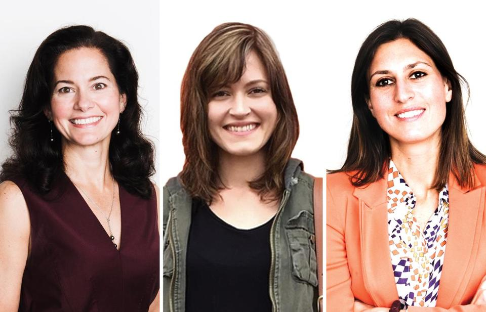 From left: Liz Graham of Wayfair; Susan Fowler, editor in chief of Increment magazine; and Janet Comenos of Spotted.