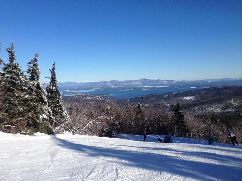 Atop Gunstock Mountain in New Hampshire.