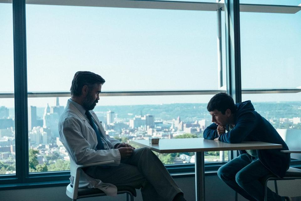 "Colin Farrell (left) and Barry Keoghan in ""The Killing of a Sacred Deer."""