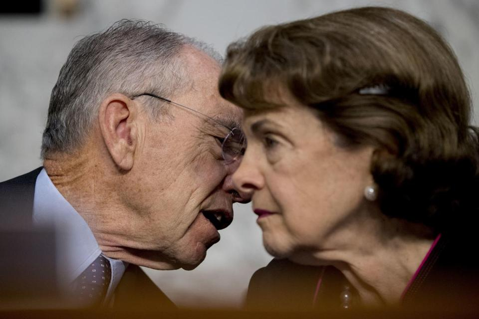 Congress, and especially the Senate, is largely made up of older politicians. Republican Senator Chuck Grassley and Democratic Senator Dianne Feinstein are both 84.