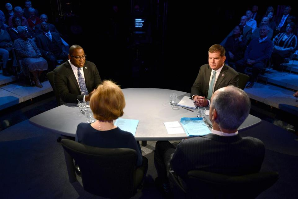 Challenger Tito Jackson sought to push Mayor Martin J. Walsh off stride with a series of criticisms in Tuesday's debate.