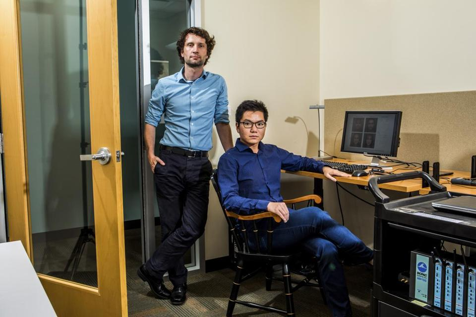 "Stanford researchers Michal Kosinski and Yilun Wang, co-authors of a study that claims to show that a computer program can detect sexual orientation from photos of faces, in Stanford, Calif., Sept. 28, 2017. Whether they have now created ""A.I. gaydar,"" and whether that's even an ethical line of inquiry, has created an uproar. (Christie Hemm Klok/The New York Times)"
