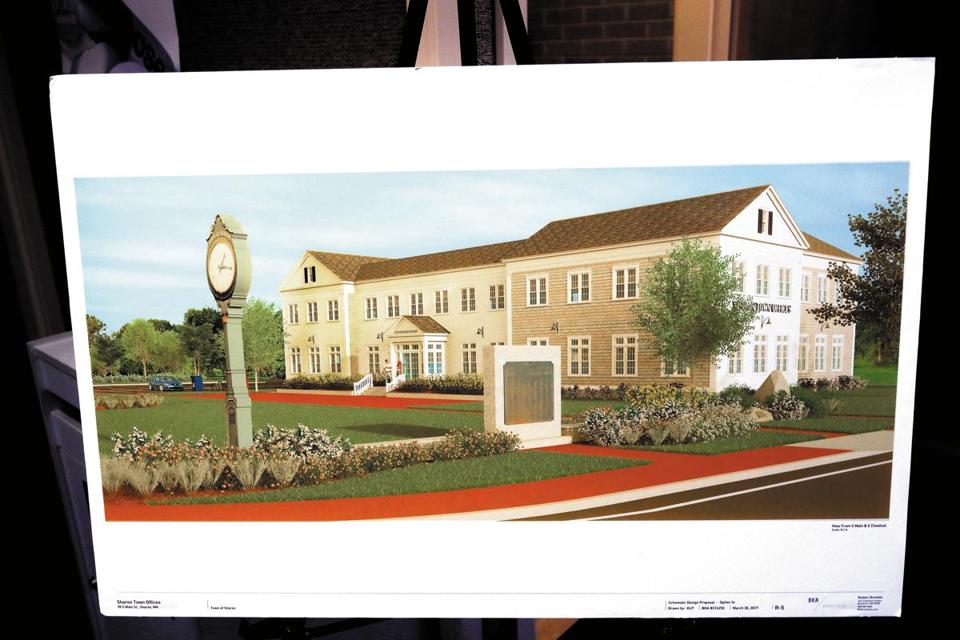 Sharon, MA - 10/26/2017 - Rendering of proposed new Sharon town offices. - (Barry Chin/Globe Staff), Section: South Week, Reporter: Jill (Terreri) Ramos, Topic: xxsosharon, LOID: 8.3.4017471885.