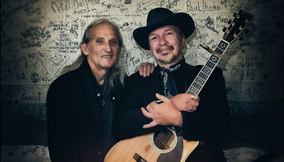 Jimmie Dale Gilmore (left) and Dave Alvin.