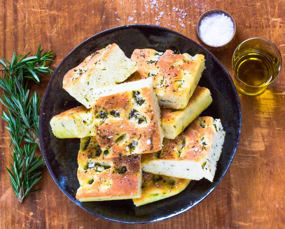 Recipe: Focaccia is especially good right from your own oven, topped with sea salt and rosemary