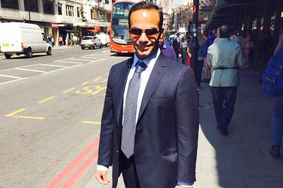 George Papadopoulos posed on a street in London for a picture for his LinkedIn profile.
