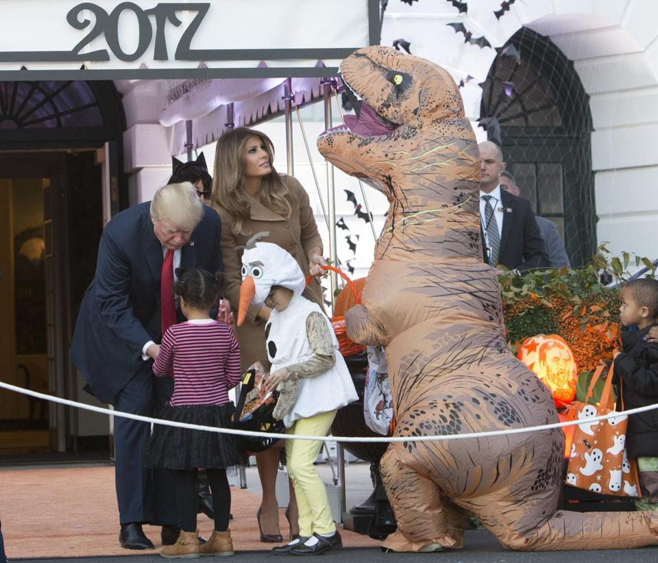 President Donald J. Trump and First Lady Melania Trump gave out treats.
