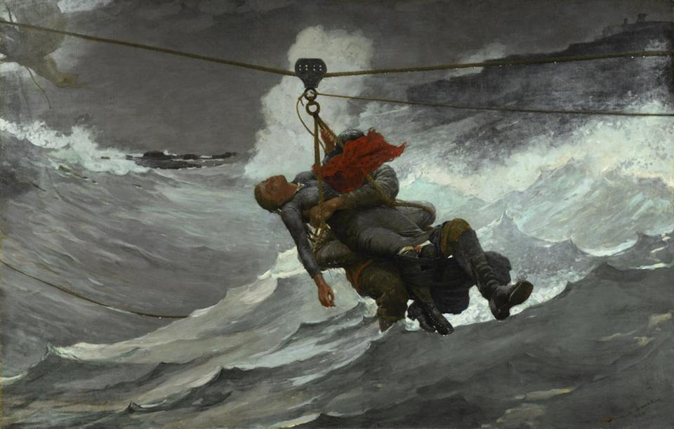 """The Life Line"" is in the ""Coming Away: Winslow Homer and England"" show at Worcester Art Museum."