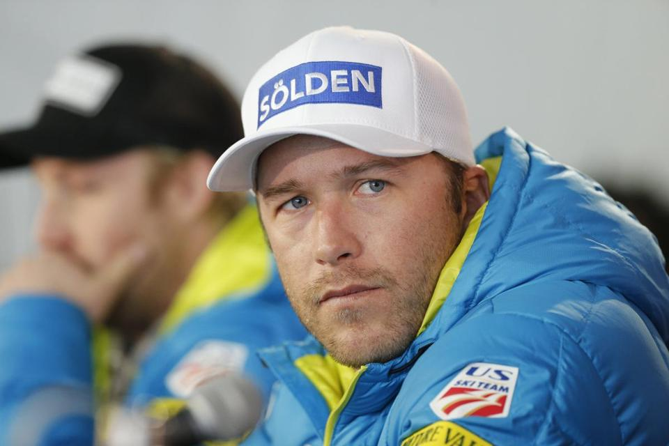 FILE - In this Monday, Feb. 2, 2015, file photo, USA men's ski team member and six-time Olympic medalist Bode Miller participates in a news conference at the alpine skiing world championships, in Beaver Creek, Colo. Miller's name no longer appears on the roster of the U.S. ski team, who announced its nominations Thursday, May 25, 2017, for the 2017-18 World Cup season. (AP Photo/Brennan Linsley, File)