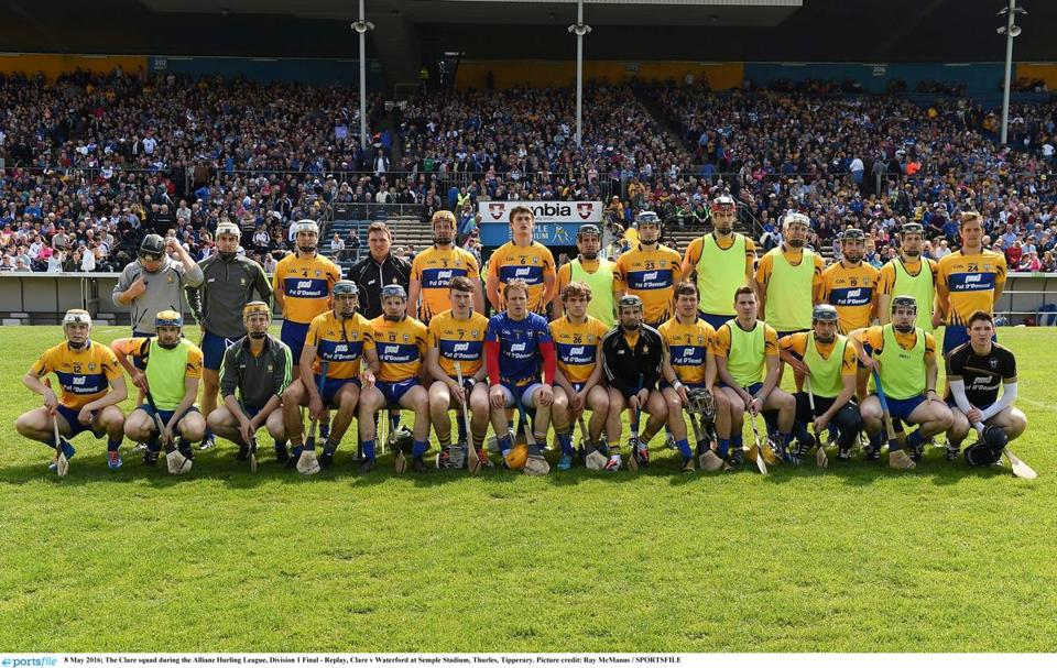 The Clare squad will battle Tipperary in a hurling contest at Fenway Park.