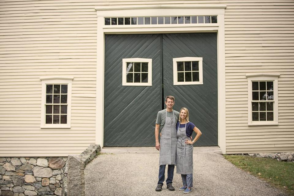 Tom and Monica Rogan started producing chocolate bars last year at Goodnow Farms.