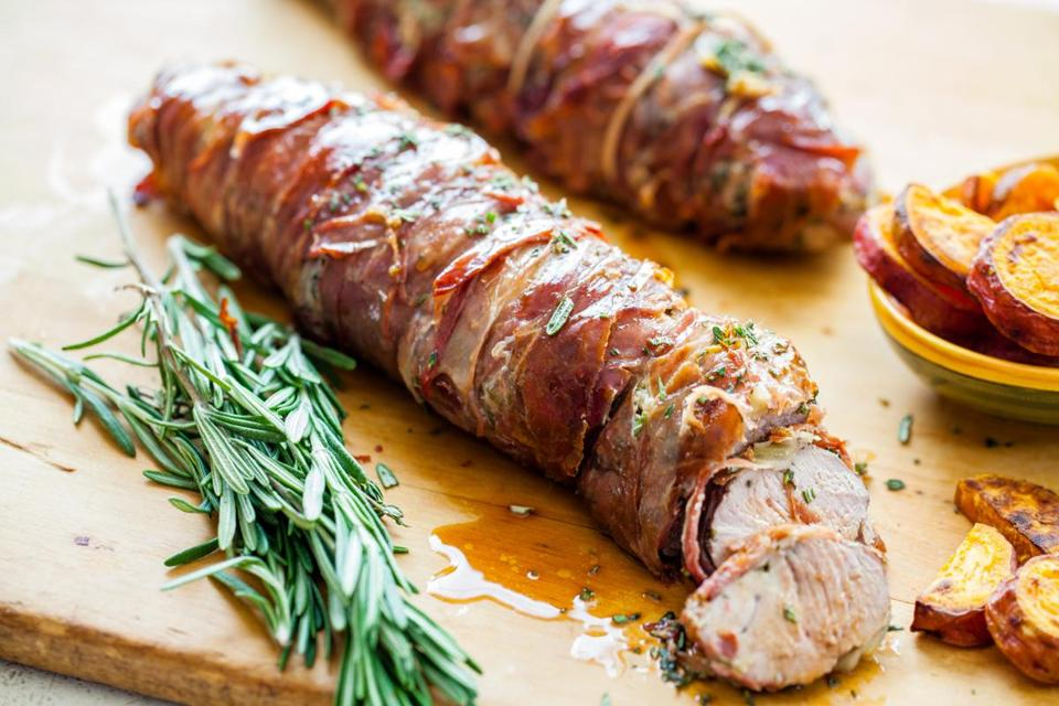 Recipe: You couldn't ask for an easier party dish than prosciutto-wrapped pork tenderloins