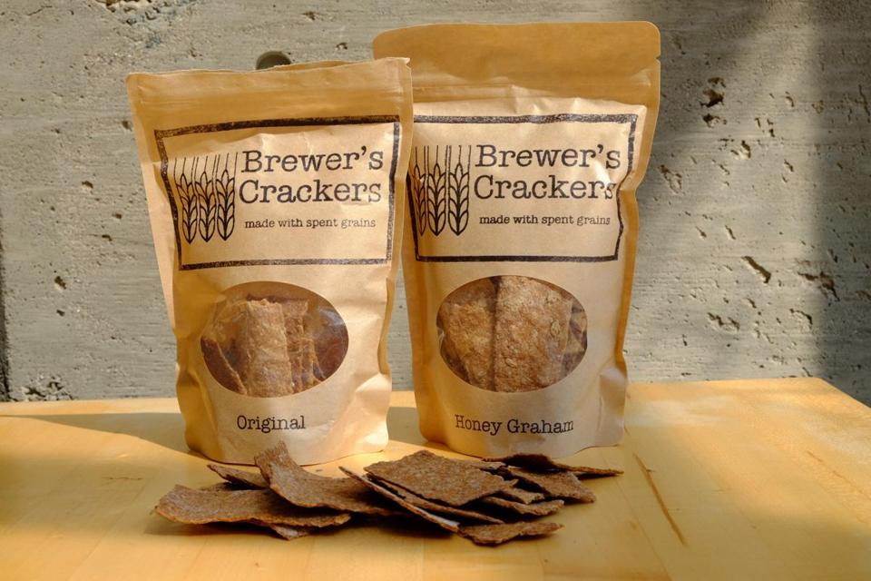 Makers of Brewer's Crackers use spent grains from Lamplighter Brewing Co.