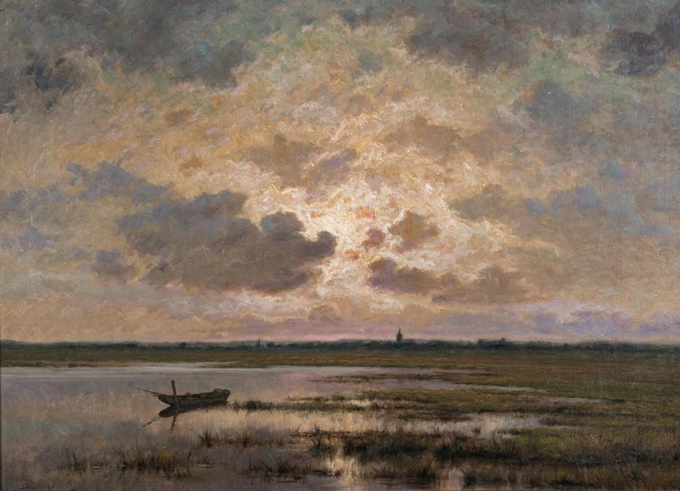 "Frans van Kuyck's ""Marsh at Twilight"""