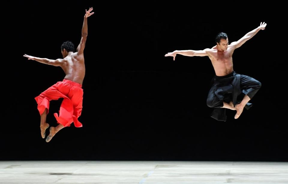 "Irlan Silva (left) and Paulo Arrais dance in ""Obsidian Tear"""