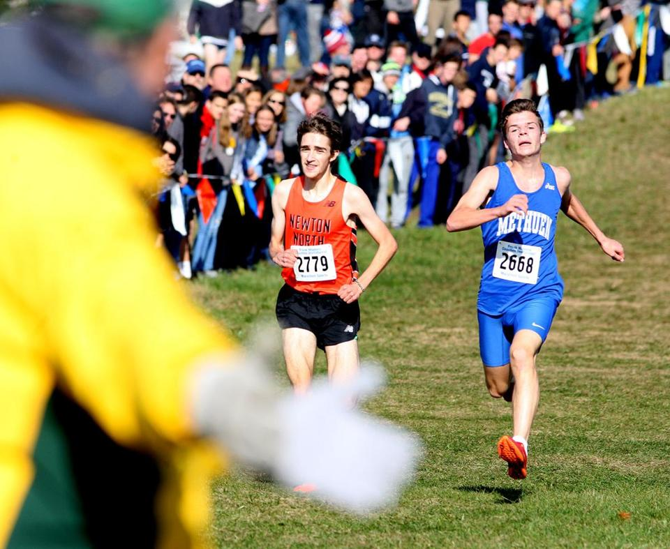 The only suspense in the Division 1 junior and senior race was for second and third. Methuen's Samuel Cook edged Ilai Gavish of Newton North.