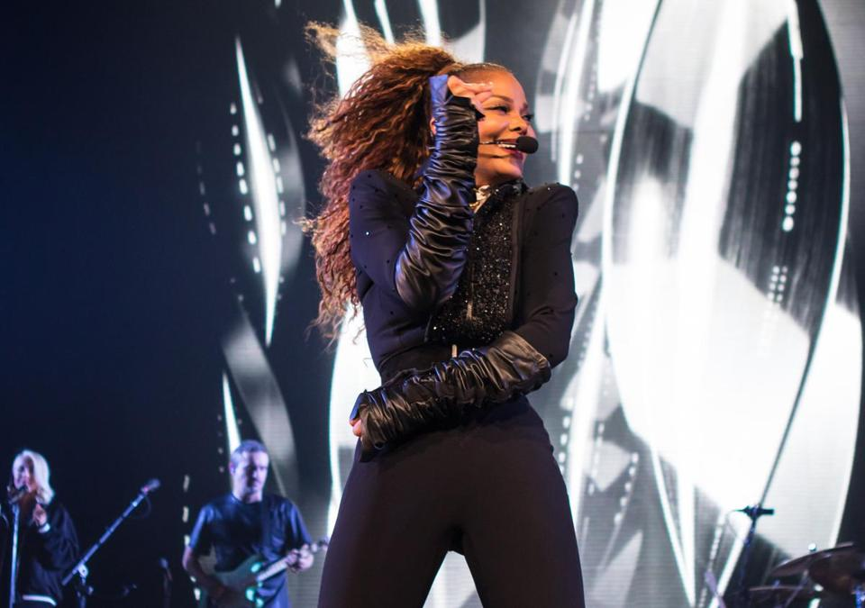 Janet Jackson (pictured during a State of the World show in Houston) brought her tour to TD Garden Sunday.