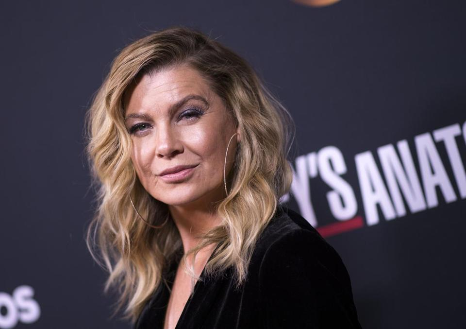 "Actress Ellen Pompeo attends the 300th ""Grey's Anatomy"" Episode Celebration on November 4, 2017, in Hollywood, California. / AFP PHOTO / VALERIE MACONVALERIE MACON/AFP/Getty Images"