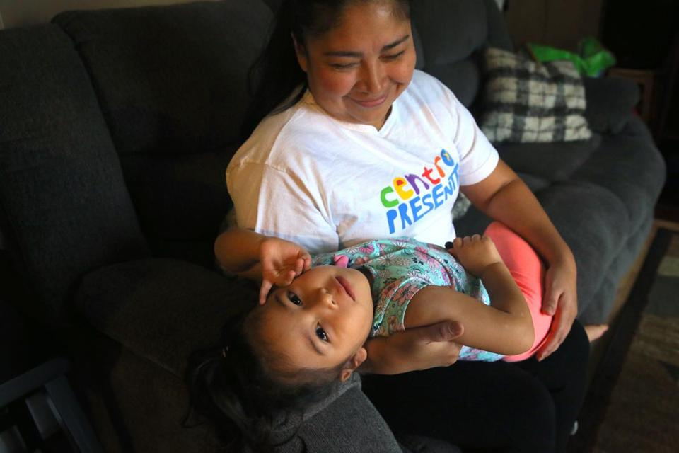 Luz Elena Martinez, who is from El Salvador, is worried about her temporary protected status. Her daughter Sofia Flores, 3, is a US citizen.