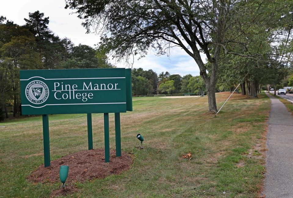 A view of Pine Manor College.