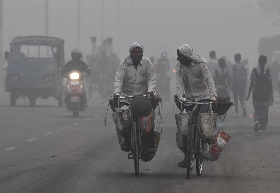 Air pollution officially classified as severe has blanked New Delhi in a toxic smog, prompting the closing of schools and the cancellation of flights.