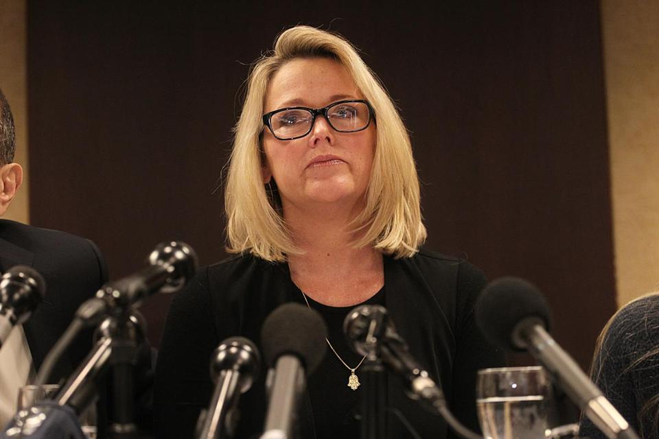 Former Boston news anchor Heather Unruh says actor Kevin Spacey sexually assaulted her 18-year-old son at a bar on Nantucket last year.