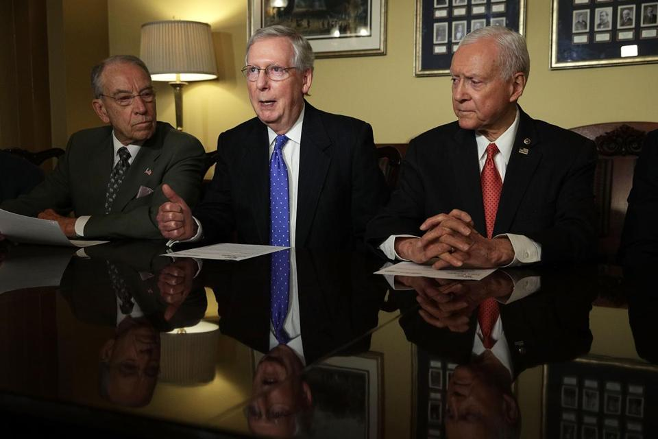 Senate Republicans unveiled their tax plan Thursday.