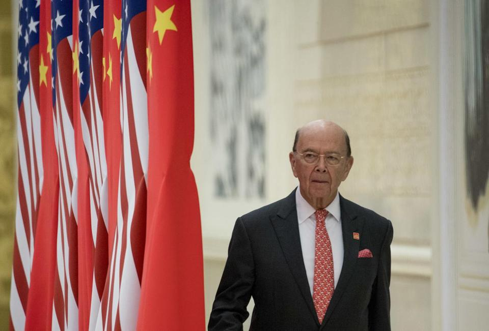 Commerce Secretary Wilbur Ross arrived at the state dinner.