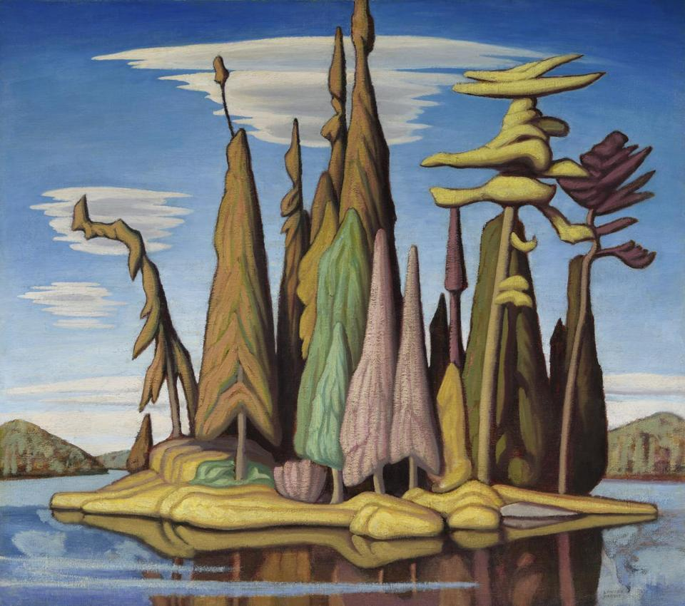 """Northern Painting 25"" by Lawren Harris."