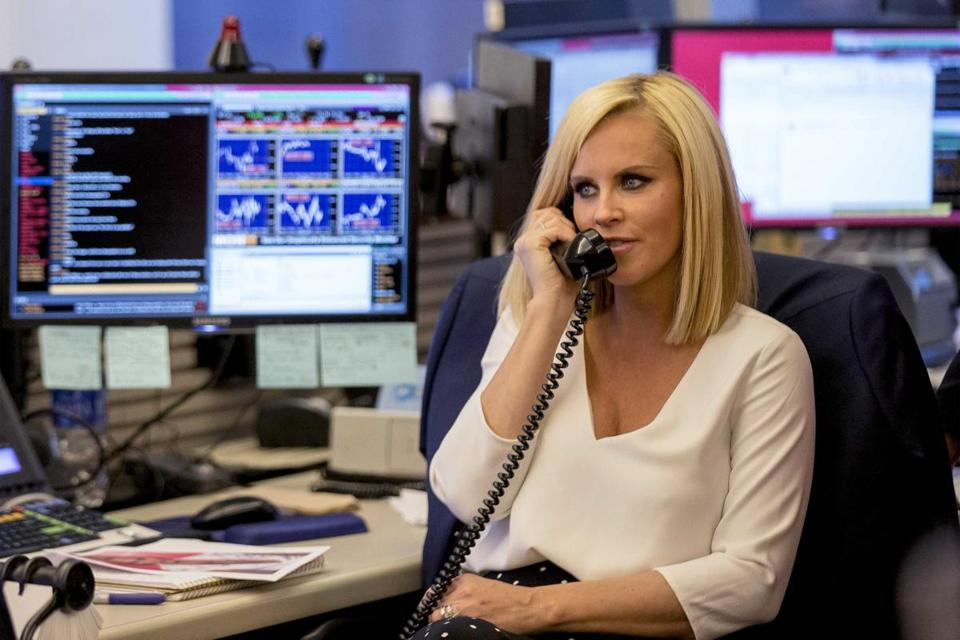Jenny McCarthy worked the Equities trading desk at the CIBC trading floor during the company's Miracle Day charity event in New York in 2014.
