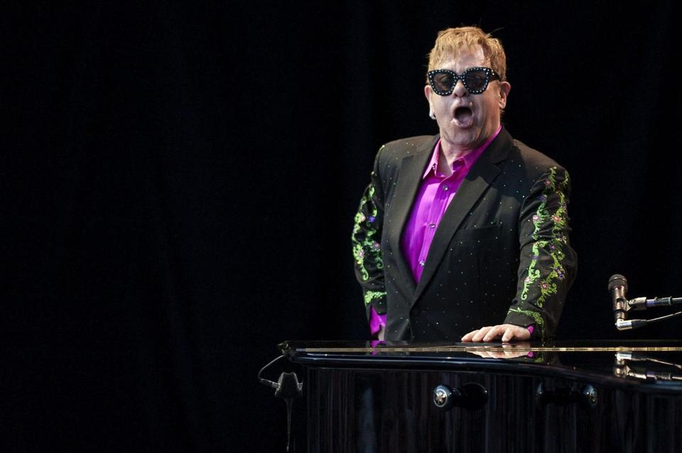 Elton John during a performance in July.