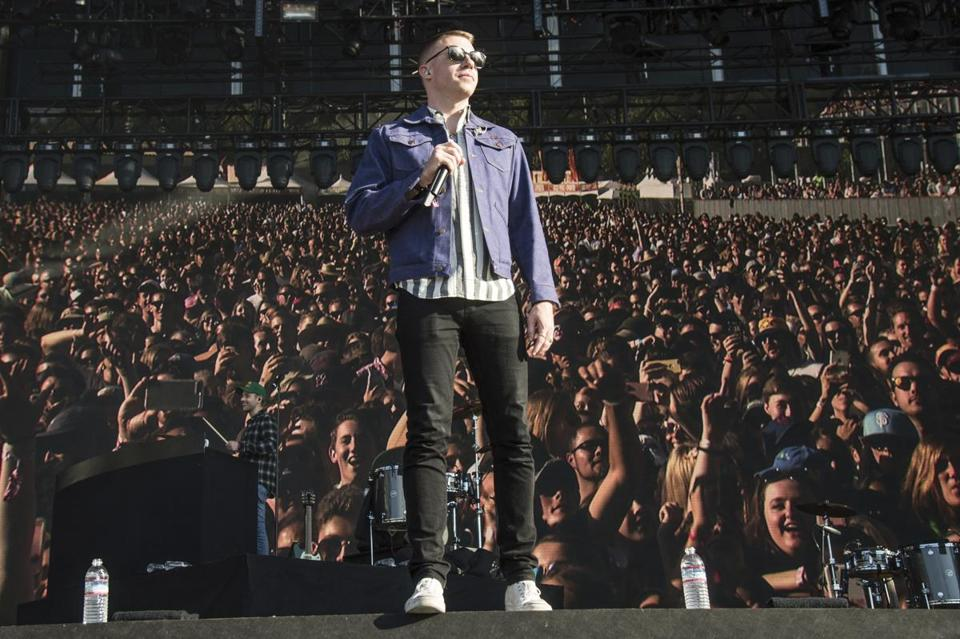 """I want to make art that reflects where I'm at in life. I'm loving the spot that I'm in,"" says Seattle-based rapper Macklemore."
