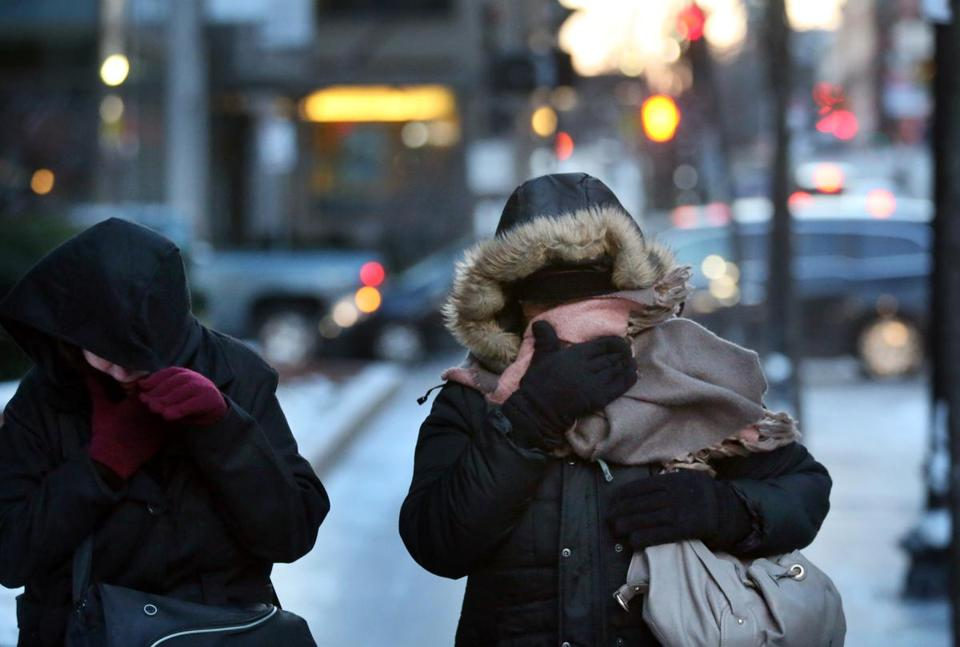 An arctic mass arrives in Greater Boston Friday pushing temperatures into the 30s and 20s, while creating wind chills hovering near zero.