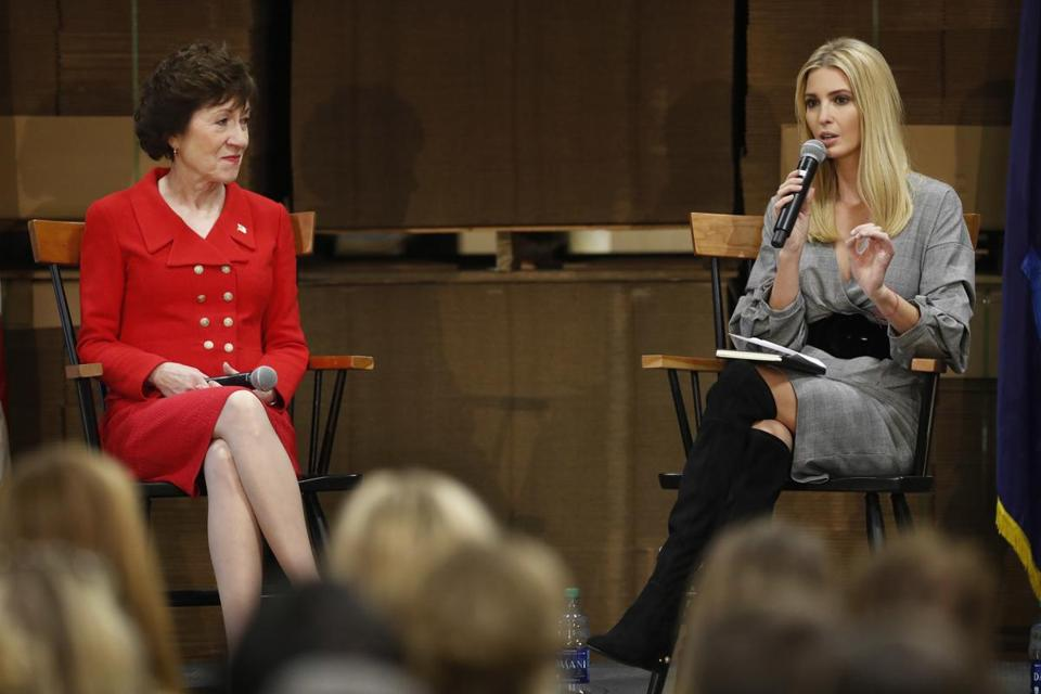 Ivanka Trump spoke about tax reform at a forum with US Senator Susan Collins.