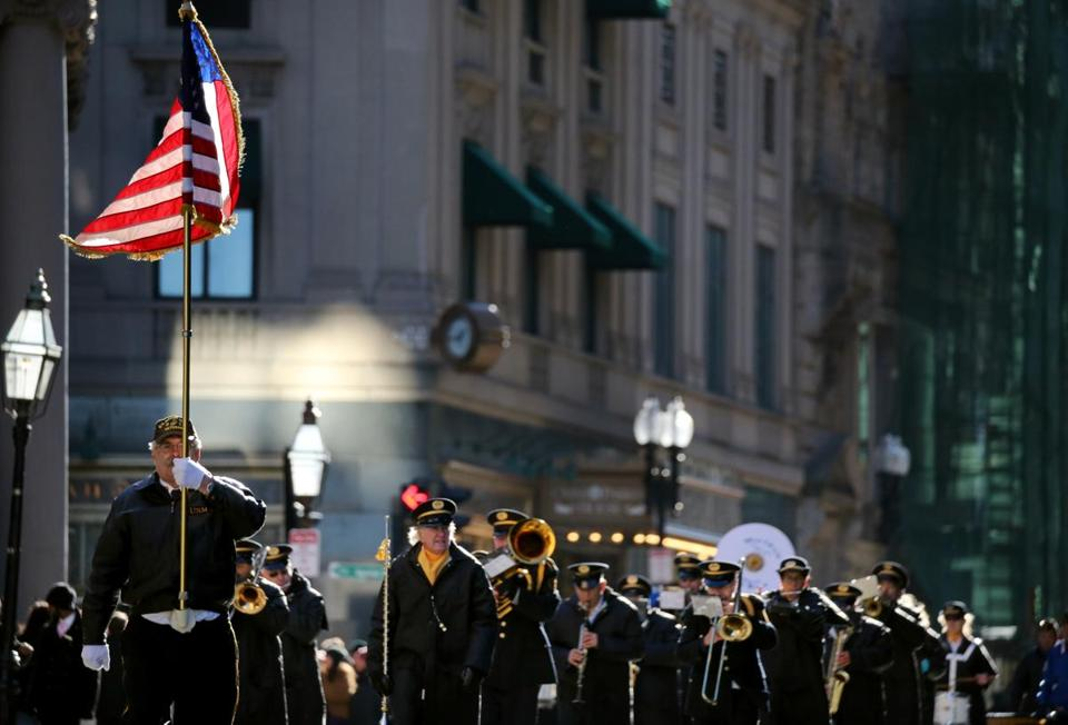 The Waltham American Legion Band marched in the Veterans Day Parade in Boston.