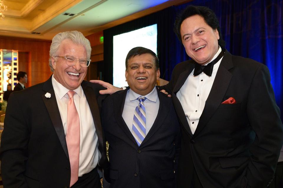 "From left: Honorees Richard Rakowski, Dusty Majumdar, and Dr. Pierantonio Russo at the ""Heroes in Health Care"" gala."