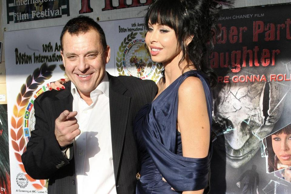 Tom Sizemore (left) and Rebekah Chaney during a 2012 appearance in Boston.