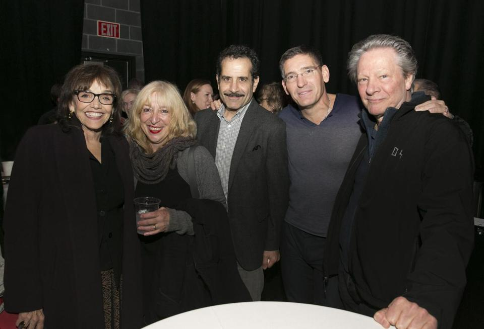 From left: Brooke Adams, Marianne Leone Cooper, Tony Shalhoub, CSC founding artistic director Steven Maler, and Chris Cooper at Babson.