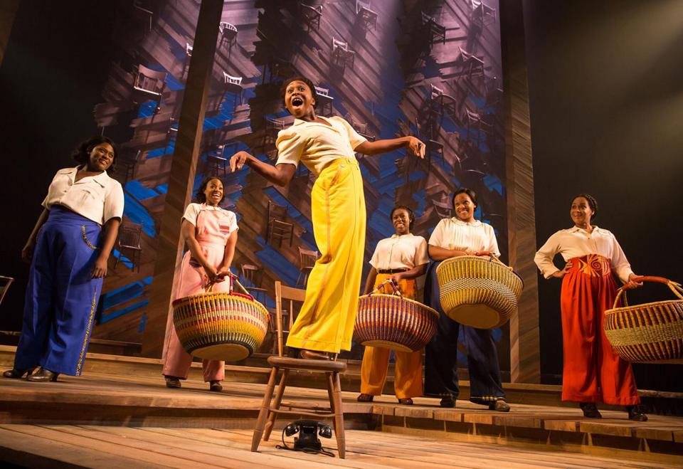 """The Color Purple."" Pictured: L-R: Danielle Brooks, Patrice Covington, Cynthia Erivo, Bre Jackson, Carrie Compere, Rema Webb. Photo credit: Matthew Murphy, 2015 -- 04TONYS -- 12TONYS"