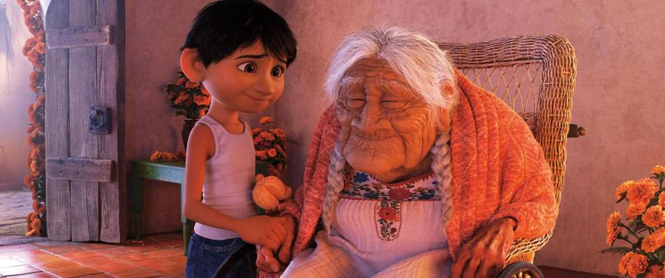 "Miguel and his great-grandmother figure prominently in ""Coco."""