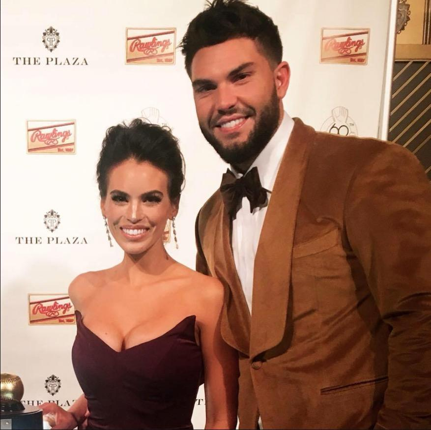 Kacie McDonnell and Eric Hosmer at Gold Glove ceremonies at The Plaza