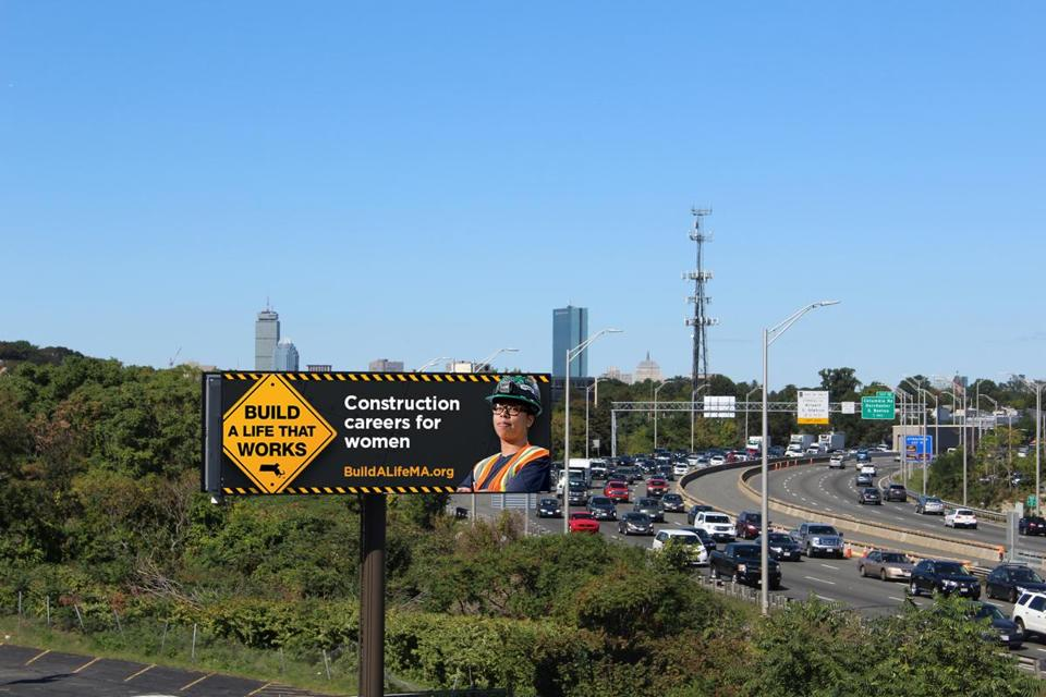 "Billboards advertising the ""Build a Life That Works"" effort appeared along Interstate 93."