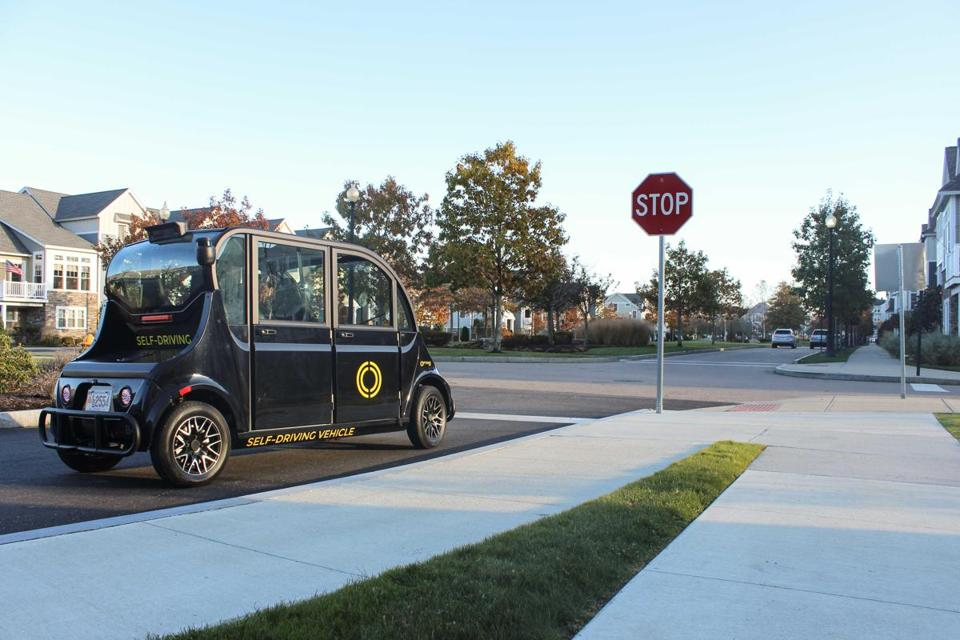 Optimus Ride's self-driving electric cars could soon be transporting passengers at the Union Point development in South Weymouth.