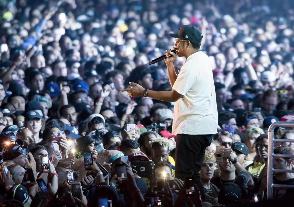 Jay-Z performs onstage during the Meadows Music and Arts Festival at Citi Field in New York City in September.
