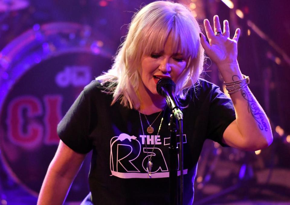 Kay Hanley leads Letters to Cleo in concert at the Paradise.