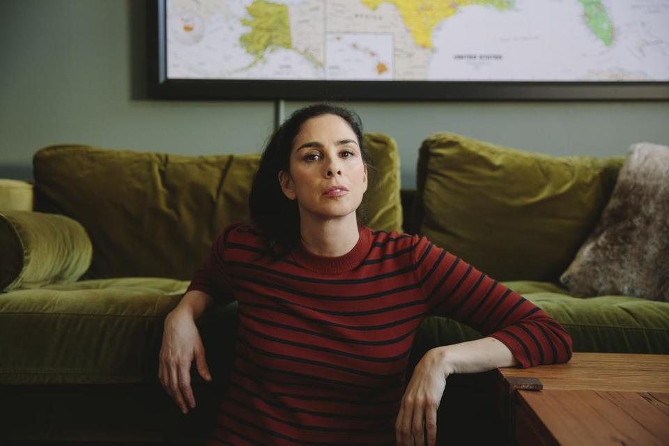 "FILE — Sarah Silverman, the comedian, in Los Angeles, Sept. 26, 2017. In an episode of her Hulu series, ""I Love You, America,"" released on Nov. 16, Silverman spoke about Louis C.K., a longtime friend and colleague, and wondered aloud: ""Can you love someone who did bad things?"" (Brinson+Banks/The New York Times)"