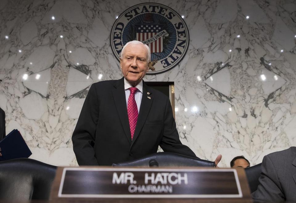 Senate Finance Committee Chairman Orrin Hatch on Capitol Hill last week, as the tax-writing panel began work on overhauling the nation's tax code.