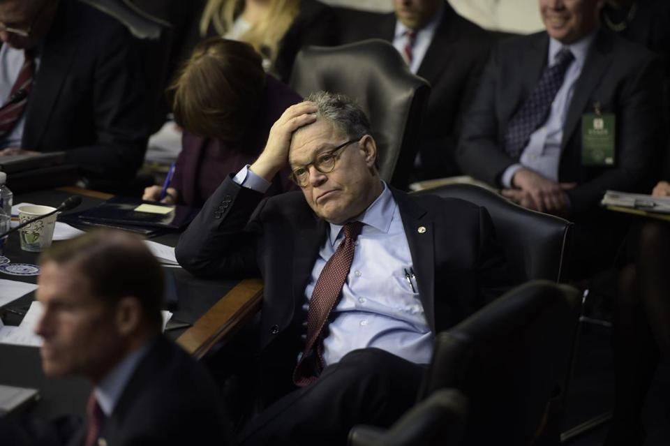Senator Al Franken, a Minnesota Democrat, was accused of aggressive behavior during a 2006 USO tour.